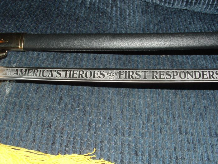 "America's First Responders 35"" Sword with Stand"